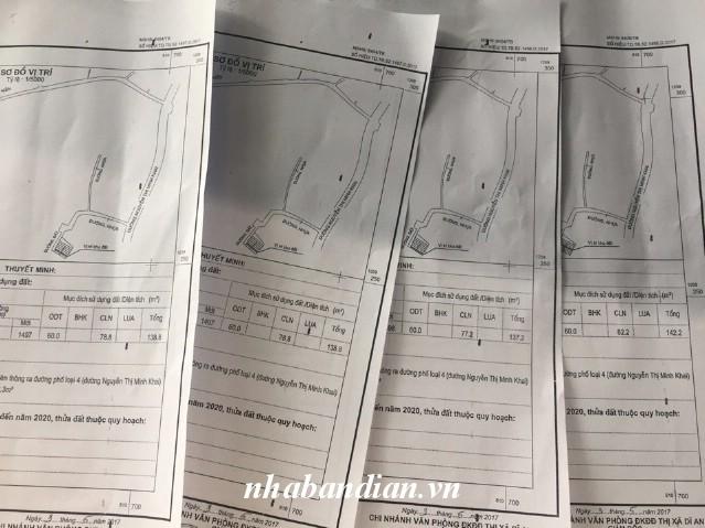 Bán đất đường 7m 137m2 gần Ngã Tư Chiêu Liêu giá rẻ chỉ 8.3 triệu/m2