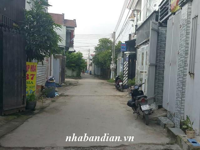 Bán nhà 90m2 sân xe hơi gần Ngã Ba Cây Điệp cách trường học Tân Đông Hiệp 700m