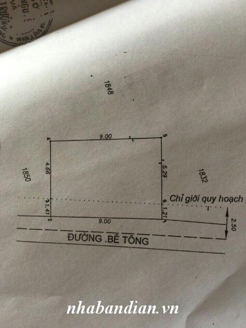 Bán nhà cấp 4 sổ riêng 56.6m2 gần Bệnh viện thị xã Dĩ An giá 760 triệu