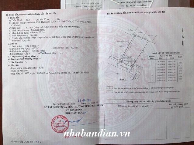 Bán đất 52.7m2 phường Linh Xuân Thủ Đức gần ngay Quốc Lộ 1K và Big C Dĩ An