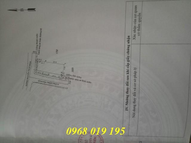 Bán lô đất hai mặt tiền nhựa 152m2 gần chợ Đông Hòa Dĩ An