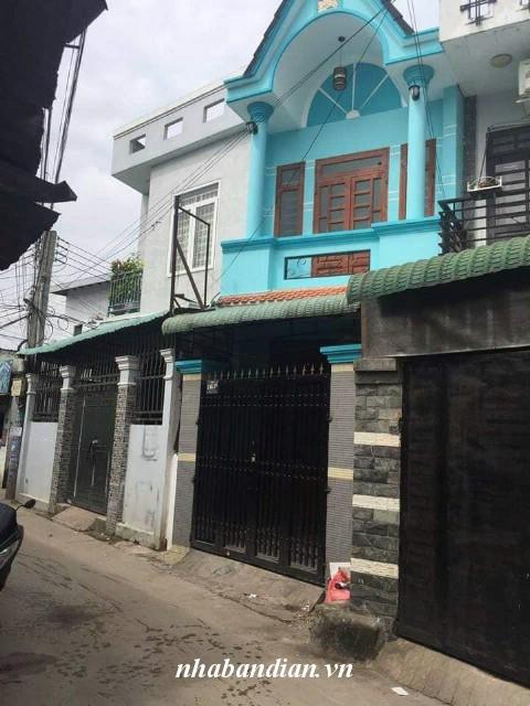 Bán nhà lầu 58m2 gần đường Phạm Ngũ Lão chợ Xóm Vắng